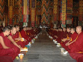 CP-photo-Monks-offering-Puja-Sera-Je-Monastery