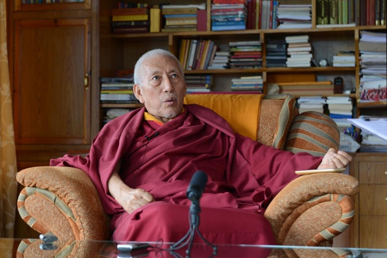Samdhong Rinpoche at his residence in McLeod Ganj, India, on 19 August 2016.